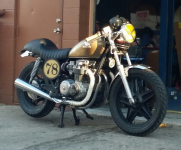 my 1981 cb650 brat tracker cafe thing