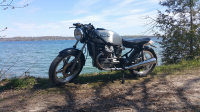 CX500 on the lake