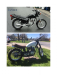 1994 Honda Nighthawk 250 before and after.