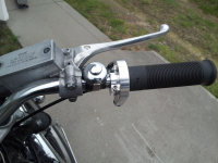 KZ440, custom right handle bar controls