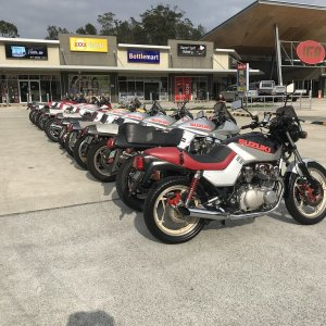 Brisbane (Australia) Katana Christmas ride.