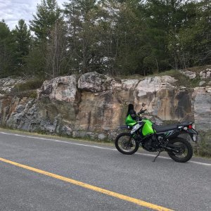2013 KLR650 and the Canadian Shield