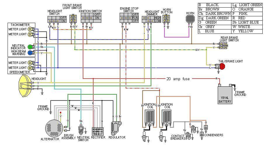 yamaha xt 550 wiring diagram xs500 custom harness help do the ton  xs500 custom harness help do the ton